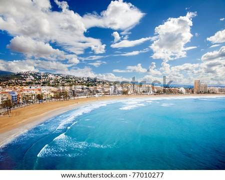 Beach Coast at spain,(Peñiscola) - stock photo