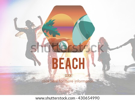 Beach Coast Seaside Shore Summer Vacation Concept - stock photo