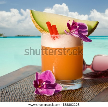 beach Cocktail - stock photo