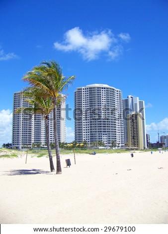 Beach Condos - stock photo