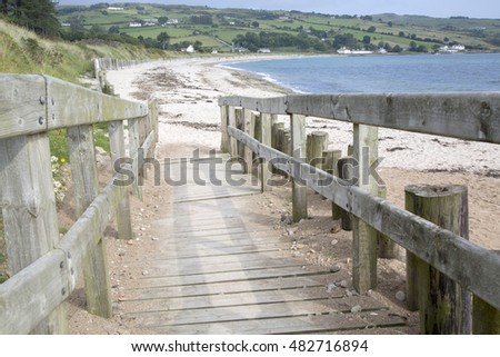 Beach; Cushendun; County Antrim; Northern Ireland