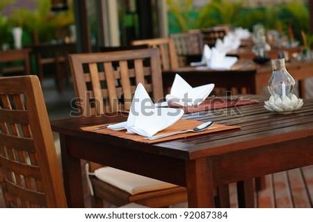 Beach Dining - stock photo