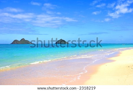 Beach dreams (with space for text) - stock photo