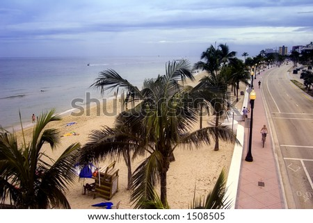 Beach Drive A1A at Fort Lauderdale Florida USA - stock photo