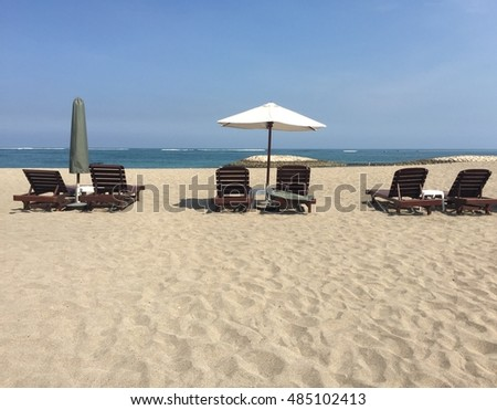 BEACH FRONT VIEW WITH BACK REST CHAIR AND MARQUEE