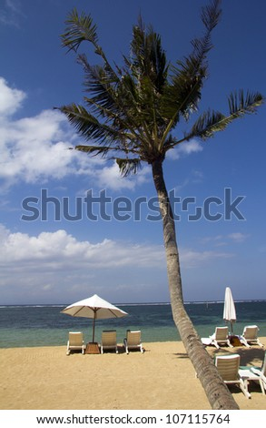 Beach Furniture, Sanur, Bali - stock photo