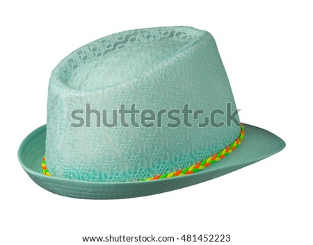 beach hat isolated on white background .