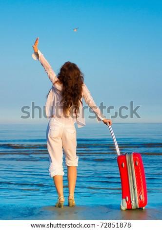 Beach Holiday Happiness - stock photo