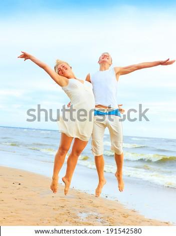 Beach Honeymoon Dancing  - stock photo