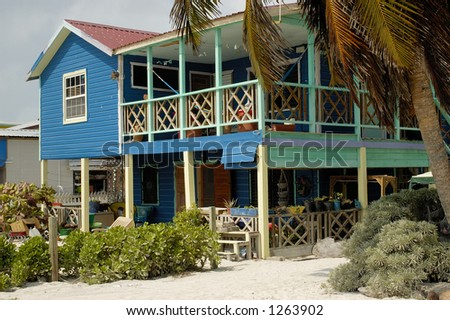 Beach House in Belize - stock photo
