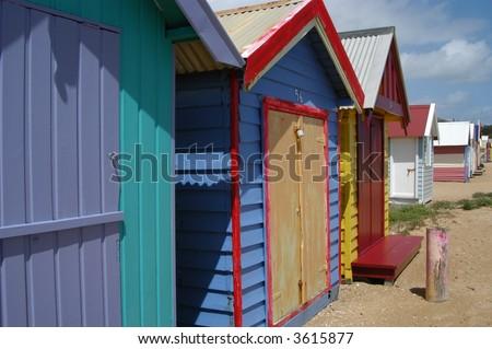 Beach Houses - stock photo