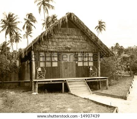 Beach Hut in Zanzibar, Tanzania - stock photo