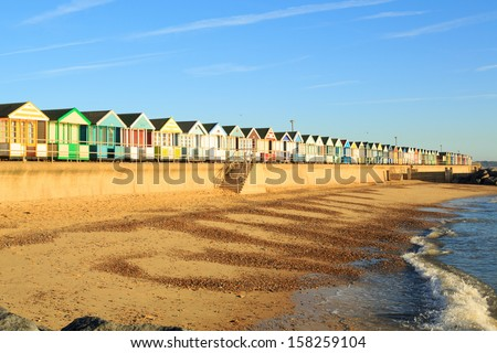 Beach huts at Southwold,Suffolk England