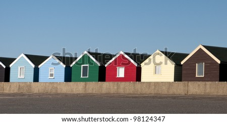 Beach Huts at Southwold 2, Suffolk, England