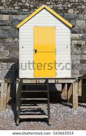 Beach Huts at Torquay, Devon, UK. - stock photo