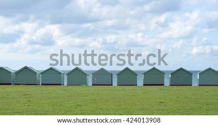 Beach Huts in Brighton & Hove - stock photo