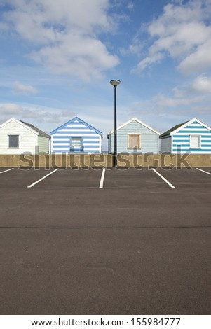 Beach huts in Southwold, Suffolk, a charming seaside town on the Suffolk Heritage Coast.