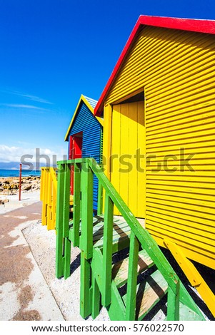 Beach huts in St. James South Africa