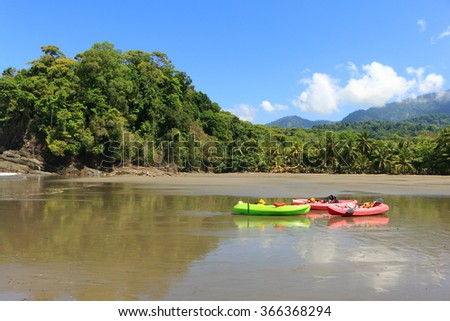 beach in Costa Rica, playa Ventanas - stock photo