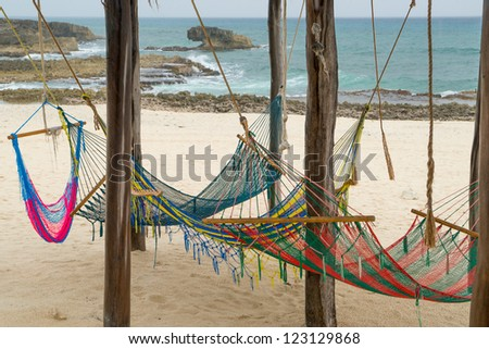 Beach in Cozumel on a rainy day - stock photo