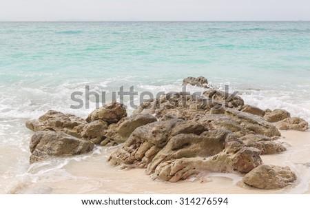 Beach in Krabi Thailand - stock photo