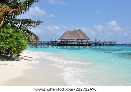 Beach in Maldives. - stock photo