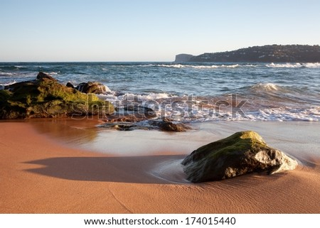 Beach in New South Wales, Australia - stock photo