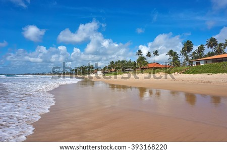 Beach in Porto de Galinhas - Brazil - stock photo