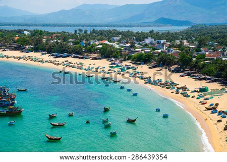 Beach in Quy Nhon city, Binh Dinh province, Vietnam
