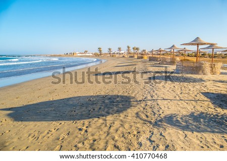 Beach in resort in Marsa Alam, Egypt - stock photo