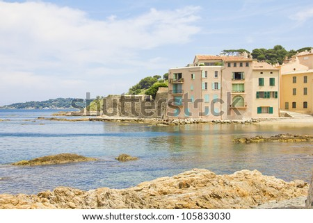 Beach in Saint-Tropez, France