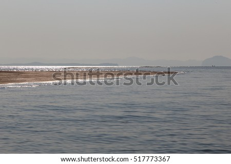 Beach in Sea when water down at Koh Sukorn in Palian of Trang - Thailand
