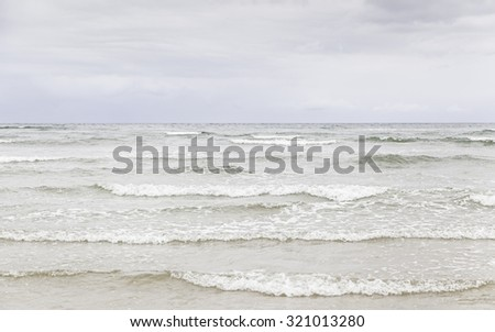 Beach in summer, detail of a beach at sea, saltwater, tourism - stock photo
