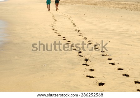 Beach in summer in Spain - stock photo