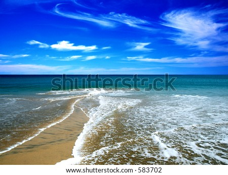 beach in the summer - stock photo
