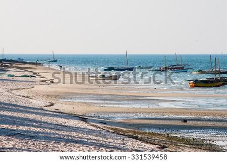 Beach in Vilanculos, Mozambique. - stock photo