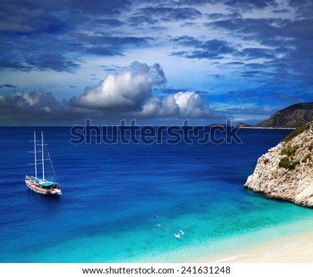 Beach Kaputas, Mediterranean Coast, Turkey - stock photo