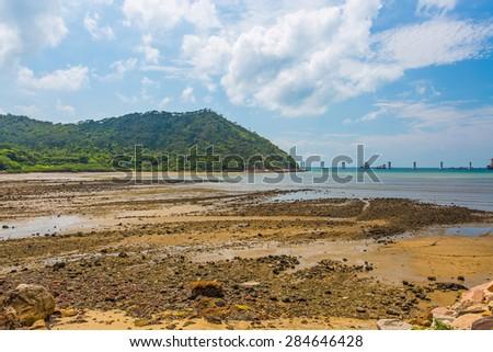 Beach landscape at Hong Kong - stock photo