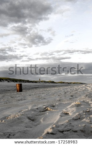 Beach Landscape At Robert Moses State Park On Long Island