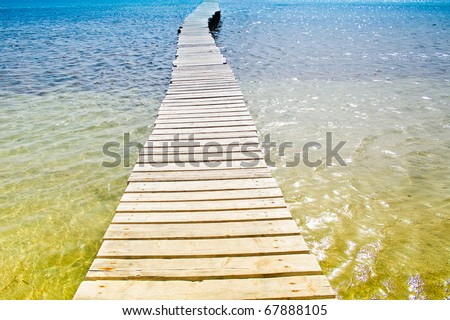 Beach Landscape Jetty - stock photo