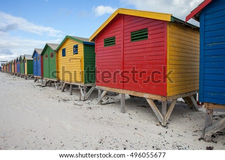 Beach living at its finest, beach huts of every color making a leading line deeper into the photograph