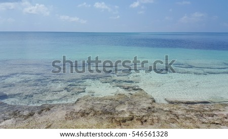 Beach nature and stone sea background