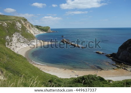 Beach near Lulworth Durdle Door