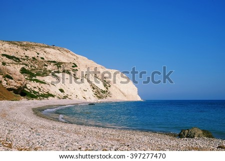 Beach of Aphrodite godess of love in Cyprus