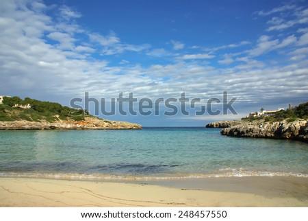 Beach of Cala Marsal in Majorca (Spain) - stock photo