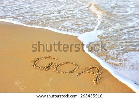 Beach of Goa, India. - stock photo