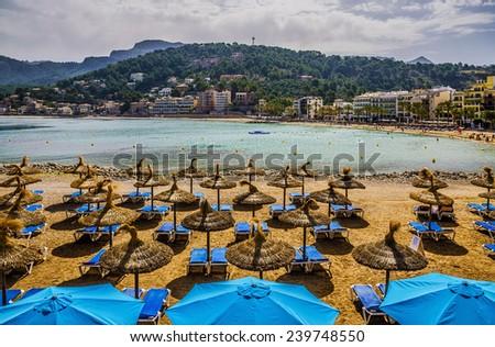 Beach of Majorca - stock photo