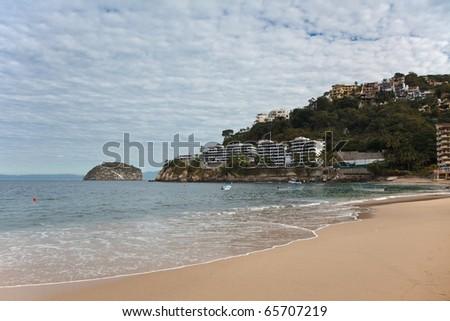 Beach of Mismaloya and Los Arcos, near Puerto Vallarta, Mexico - stock photo