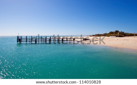 Beach of Monkey Mia, Australia - stock photo