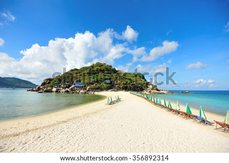 beach of Nangyuan Island in South of Thailand